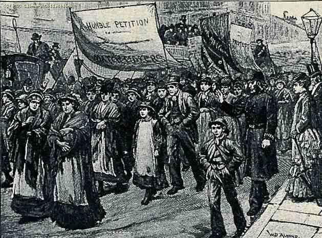 Manifestation proletariat anglais