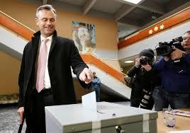 Norbert Hofer votant