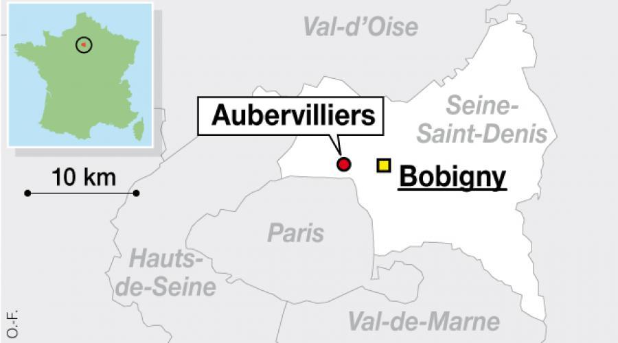 Carte Aubervilliers