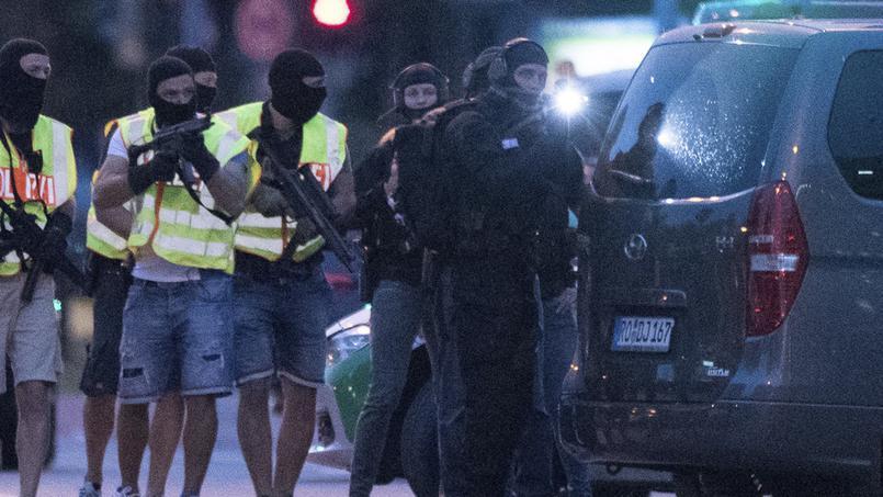 La police allemande en action.