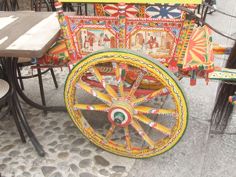 La charrette sicilienne © Jean-Claude Rolinat.