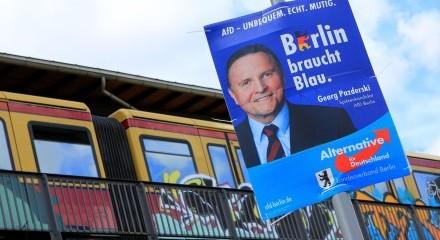 Berlin a besoin de bleu. Georg Pazderski, candidat de tête de l'AfD Berlin.
