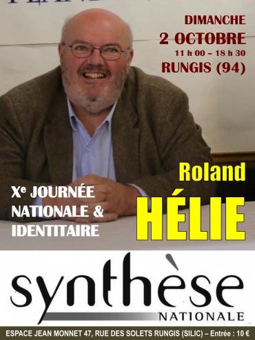 Roland Hélie, directeur de Synthèse nationale