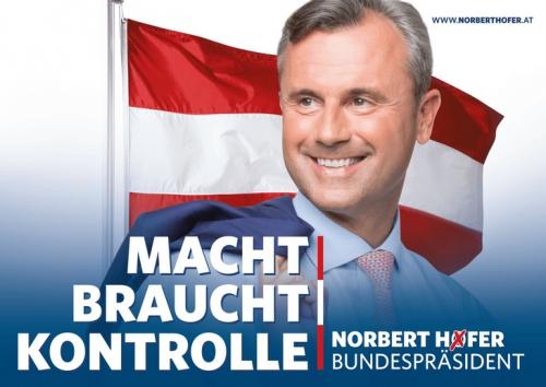 Le pouvoir a besoin de contrôle. Norbert Hofer président.