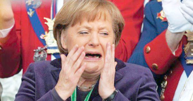 Merkel Angela en pleurs