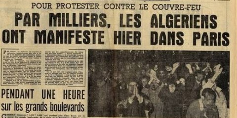 Manifestation 17 octobre 1961.
