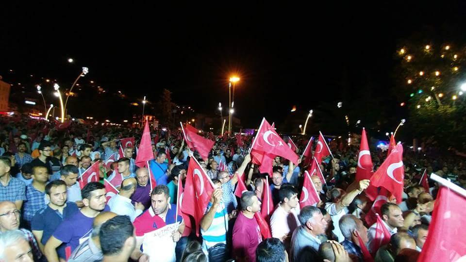 Manifestation Turquie coup d'État 2016.