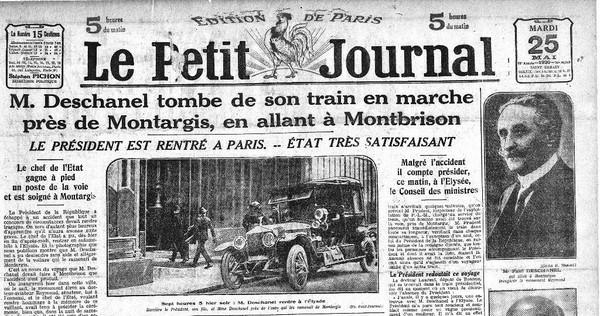 """La Une du """"Petit Journal"""" le 25 mai 1920."""