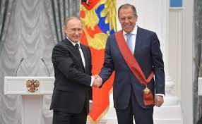 Wladimir Poutine et Sergueï Lavrov.
