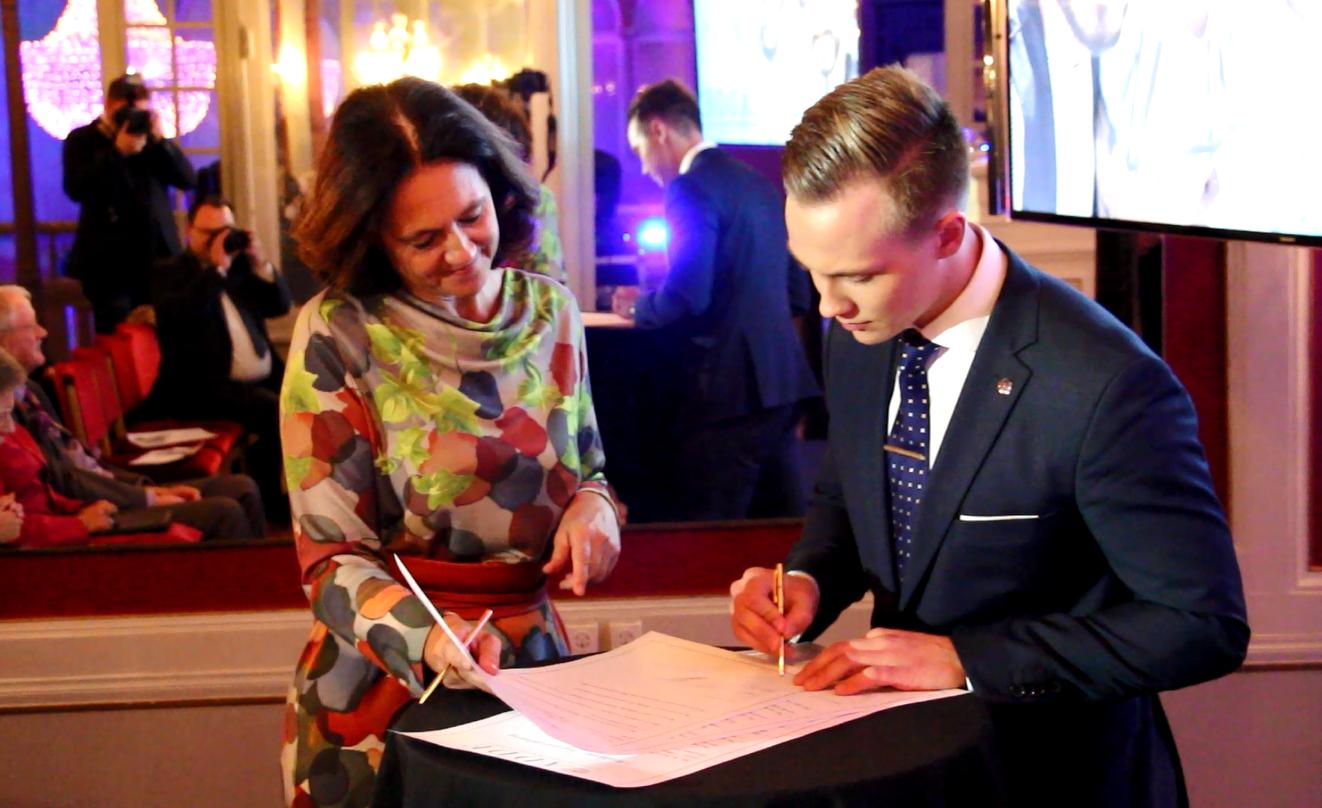 Tobias Andersson, responsables des jeunes des Démocrates Suédois.