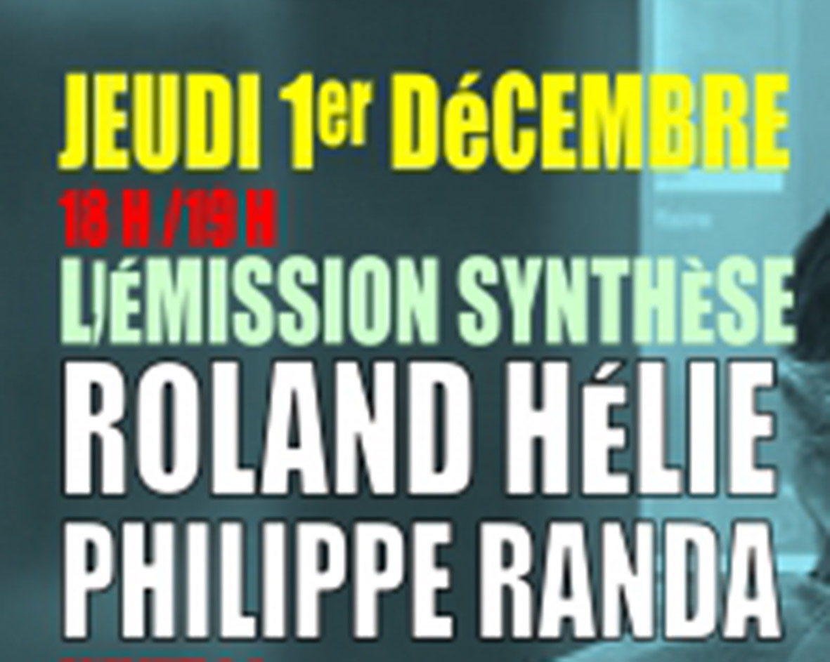 Annonce émission Synthese 2
