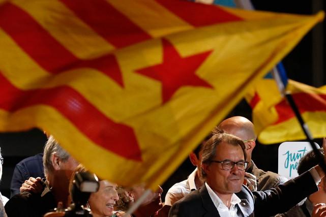 Artur Mas, candidat de la coalition indépendantiste septembre 2015.