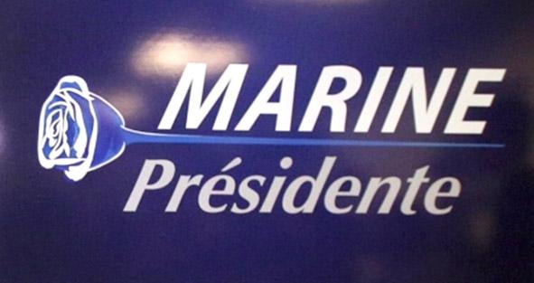 Marine presidente logo rose bleue