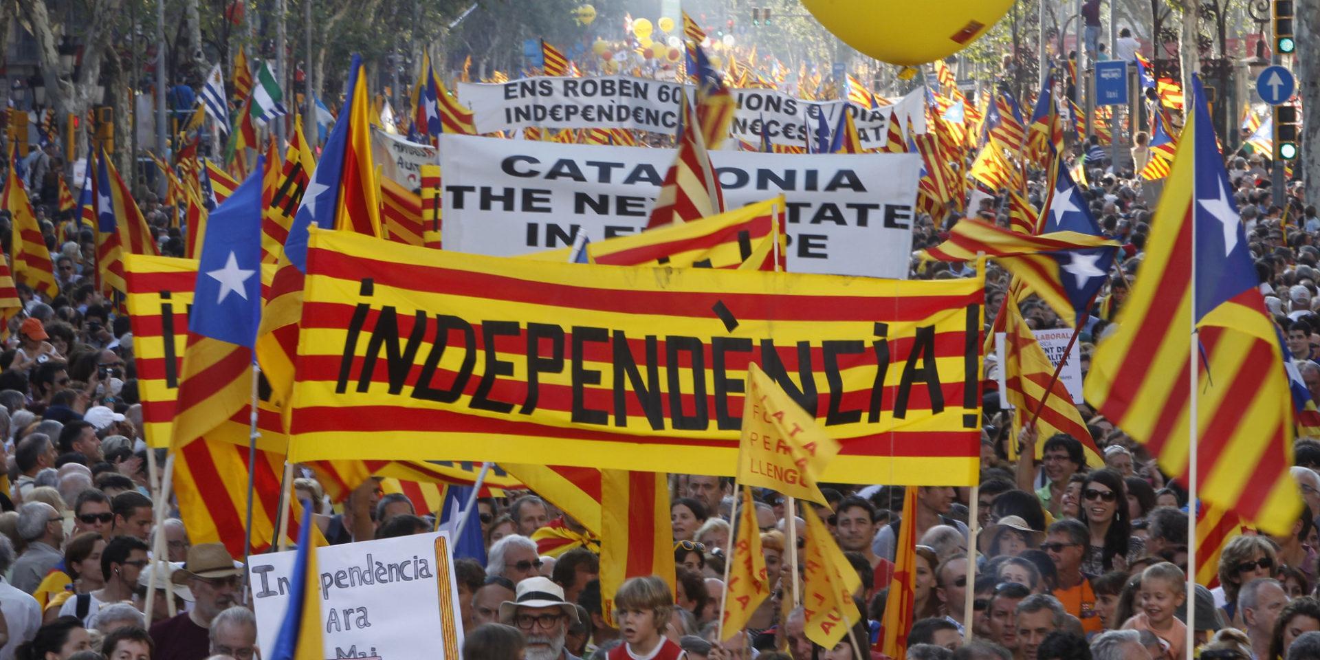 Manifestation indépendance Catalogne