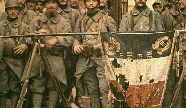 Poilus à Verdun.