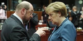 Martin Schulz et Angela Merkel