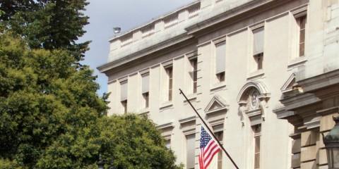 L'ambassade américaine à Paris,.