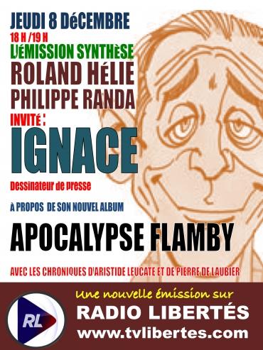 """L'émission """"Synthèse"""" reçoit le dessinateur Ignace pour la sortie de son livre """"Apocalypse Flamby"""" (Les Bouquins de Synthèse nationale)"""