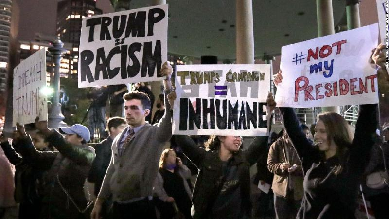 Manif anti Trump