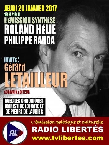 Gérard Letailleur, invité de l'émission «Synthèse».