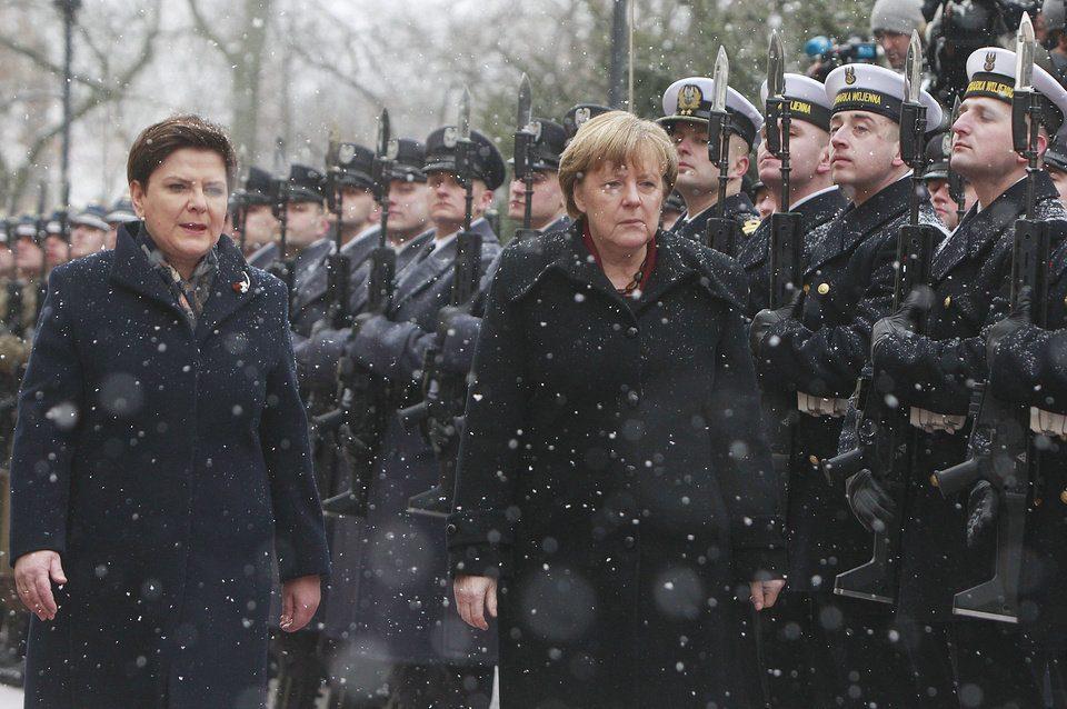 Angela Merkel à Varsovie .