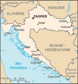 Carte Croatie