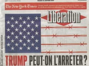 Libération vs Donald Trump.