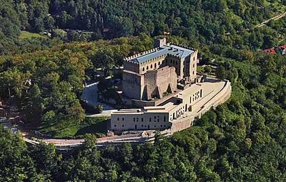 Photo du château de Hambach où en 1832 un rassemblement pour la démocratie, la liberté et l'unification de l'Allemagne a eu lieu.