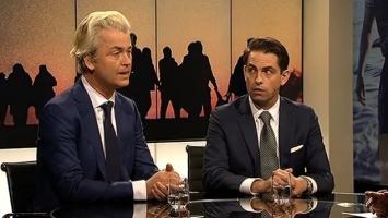 Geert Wilders et Tom Van Grieken.