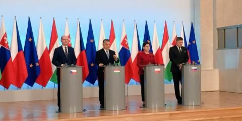 Le  groupe de Visegrád.