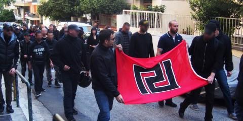 Manifestation d'Aube Dorée.