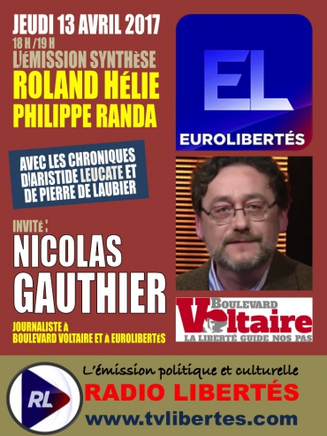 Nicolas Gauthier dans l'émission « Synthèse » sur Radio Liberté.