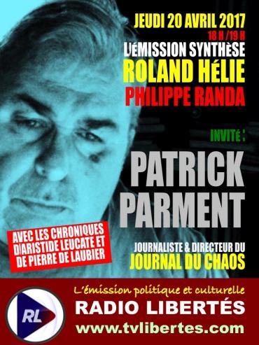 Patrick Parment  est l'invité de l'émission «Synthèse »