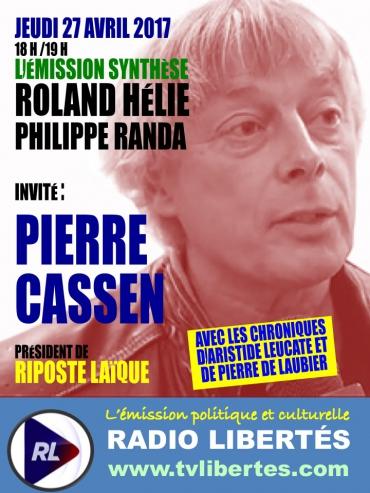 """Pierre Cassen invité de """"Synthèse"""" sur Radio Liberté""""."""
