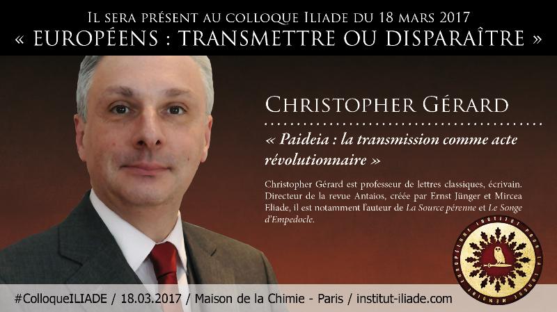 Christopher Gerard colloque  Illiade
