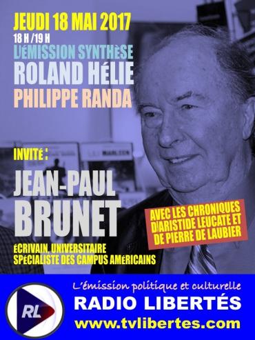 """Jean-Paul Brunet invité de l'émission """"Synthèse"""" sur Radio LIbertés."""