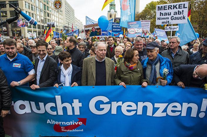 Manifestants AfD