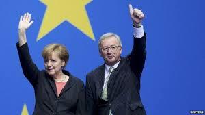 Merkel et Juncker.