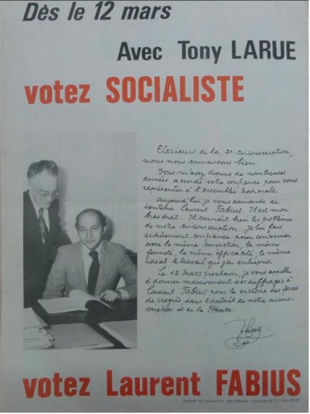 """En 1978, Fabius avait déjà débarqué en Normandie depuis un an """"avec Tony Larue"""", parrain socialiste. A l'origine, c'était Jacques Attali, le parrain de Macron, qui devait candidater dans cette banlieue ouvrière de Rouen."""