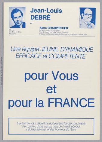 Jean-Louis Debré à Evreux en 1978.