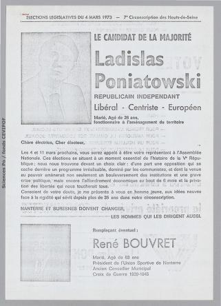 Poniatowski Nanterre 1973