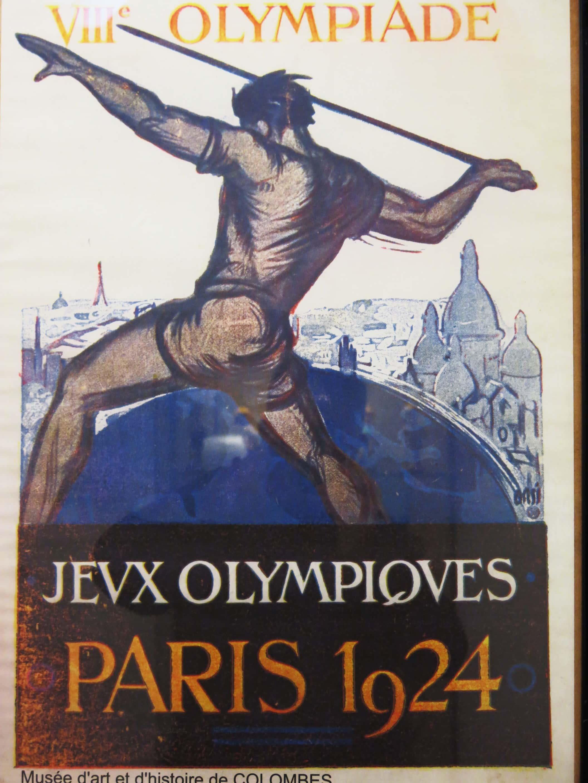 Affiche des jeux olympiques de Paris de 1924.