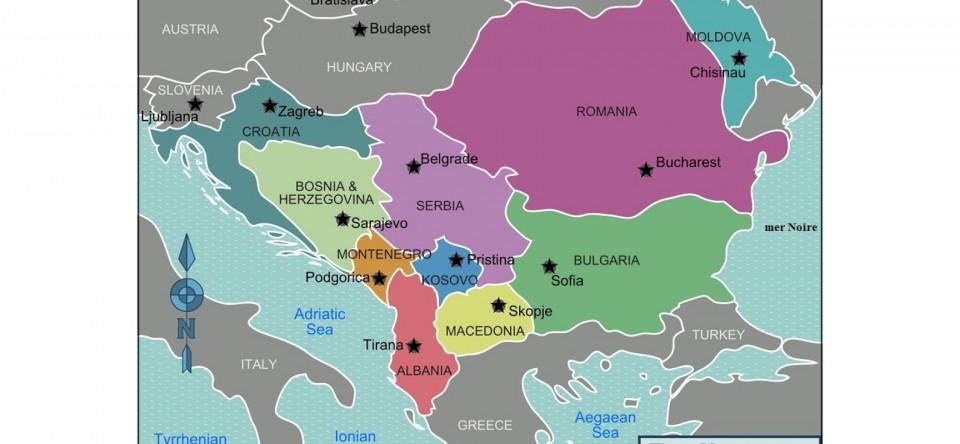 Carte des Balkans.