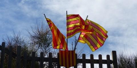 Drapeaux catalans.