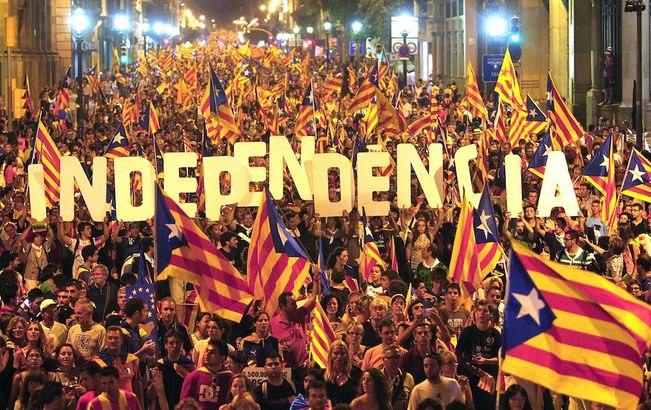 Manifestation pour l'Indépendance de la Catalogne.