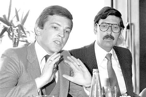 Jörg Haider et Norbert Steger en 1979.