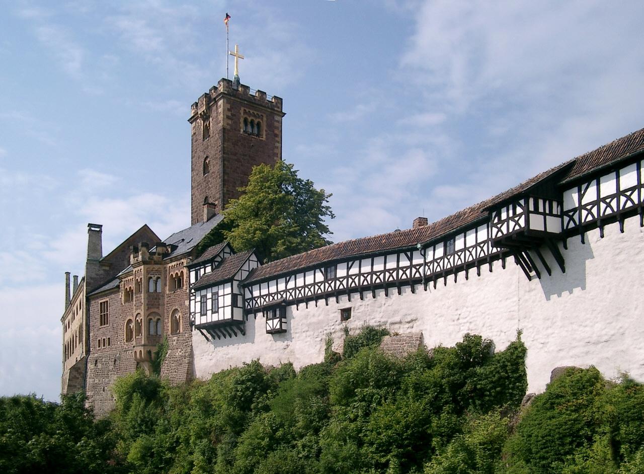La Wartbourg à Eisenach, un des hauts-lieux du nationalisme allemand.