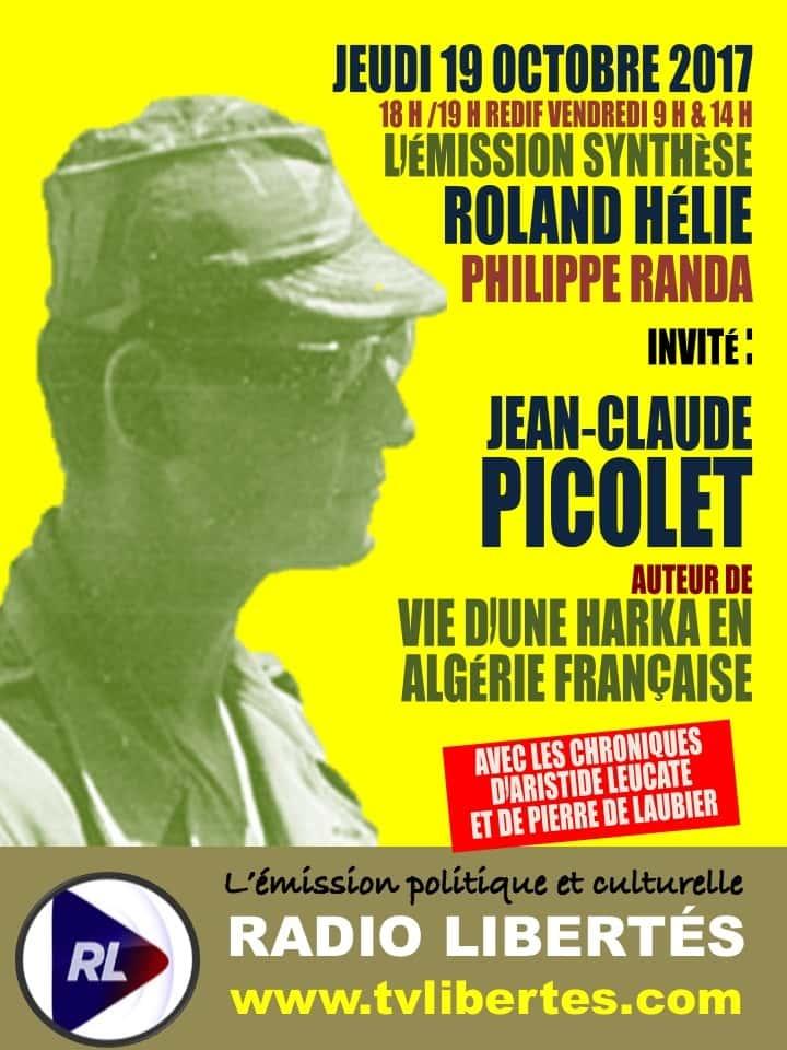 """Le jeudi 19 octobre, Jean-Claude Picolet était l'invité de l'émission """"Synthèse"""" sur Radio Libertés."""