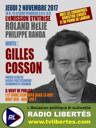 Emission SN invite Gilles cosson