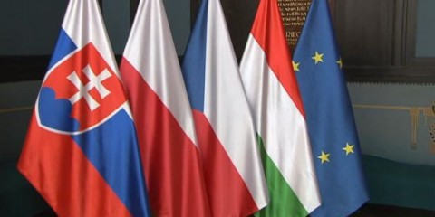 Drapeaux groupe Visegrad UE